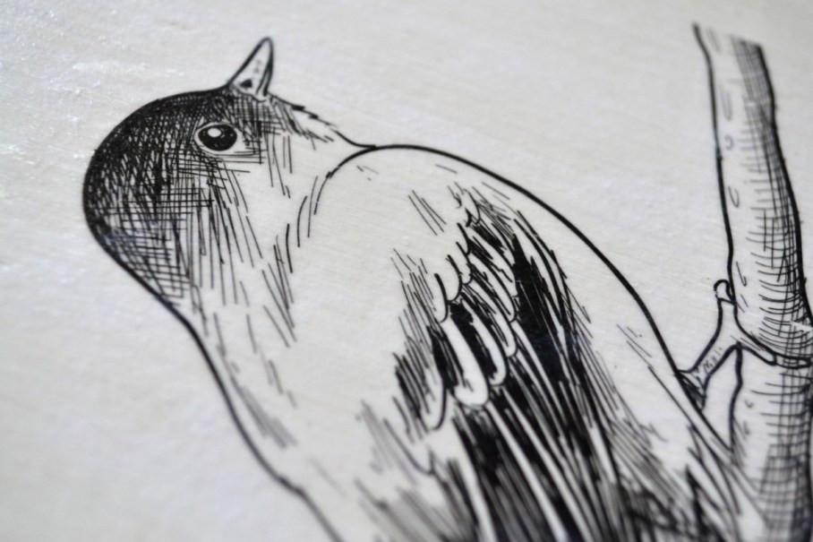 Fotodruck auf Holz Nahaufnahme
