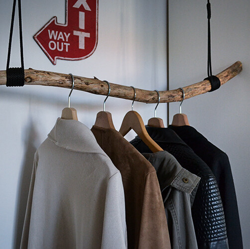 Do-it-Yourself Garderobe im Natural Style