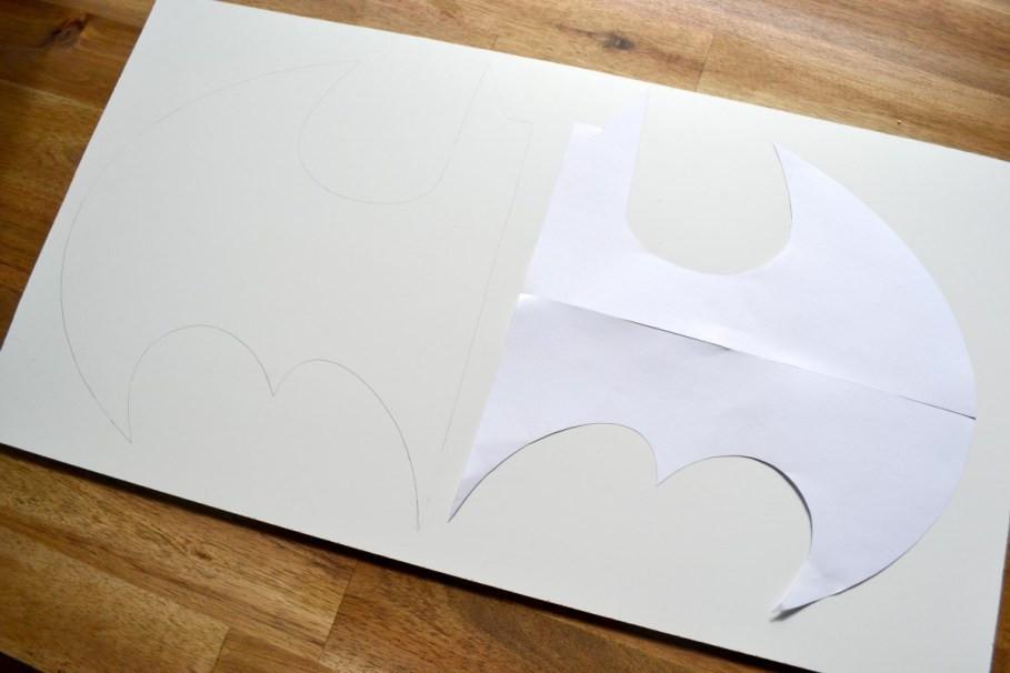 Batman-Lampe Vorlage spiegeln