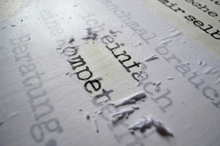 Fotodruck auf Holz rubbeln nah