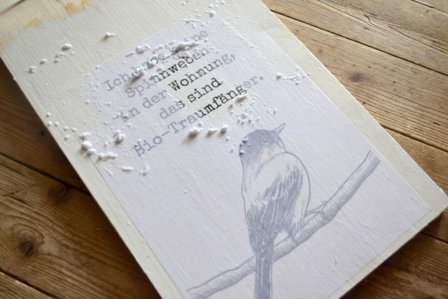 Fotodruck auf Holz rubbeln
