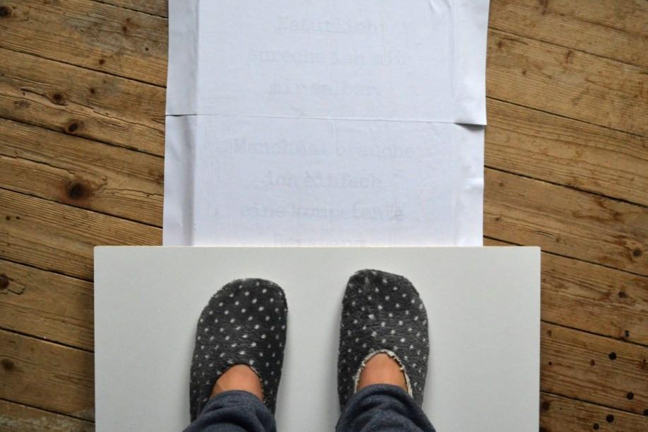 Fotodruck auf Holz anpressen