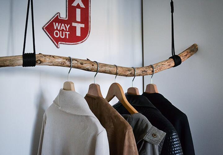 DIY Garderobe aus einem Ast - Selbstgema