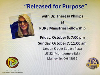 "Destiny Events Oct 5,6,7,8 St Charles IL Ohio & Indiana "" Men Welcome"" Nov 17 Added Mi"