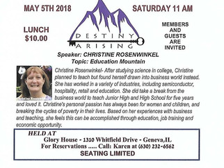 Chapter Meeting Geneva Il May 5 @ 11 AM