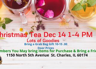 Invitation to Christmas Tea St Charles IL Dec 14