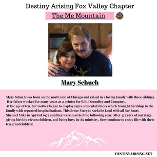 Fox Valley Chapter Meeting Feb 27 11 AM The Me Mountain