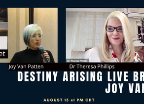 Joy Van Patten VP Of DA Speaking On Virtual Broadcast Aug 15 @ 1 PM CDT Listening For Impact