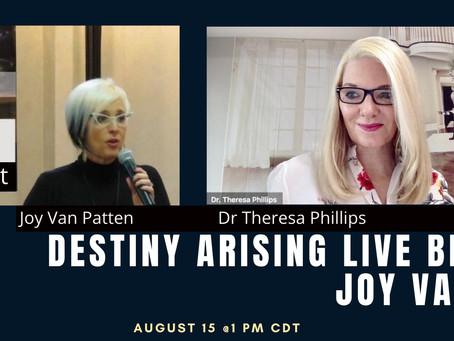 Joy Van Patten VP Of DA Speaking On Virtual Broadcast Aug 15 @ 1 PM CDT Listening For Impact
