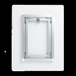 Aluminum frame with keyhole hooks