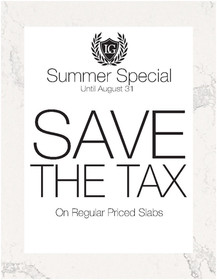 Save the tax one off sale summer 2017jpg