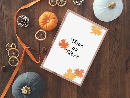 Free Halloween & Thanksgiving Printables!