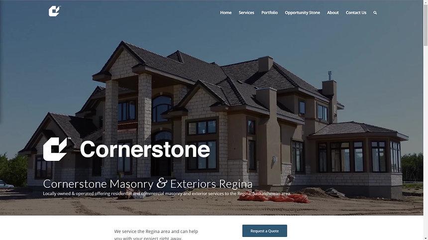 Cornerstone Masonry & Exteriors' New Website