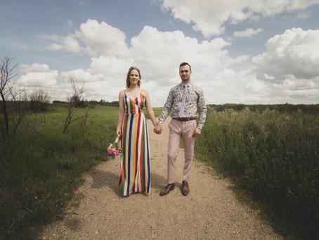 An Outdoor Non-traditional Saskatchewan Wedding