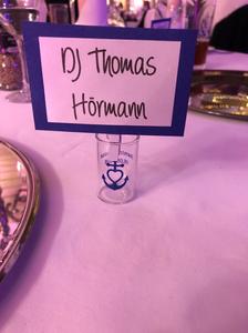 Tischkärtchen mit Schnapsglas