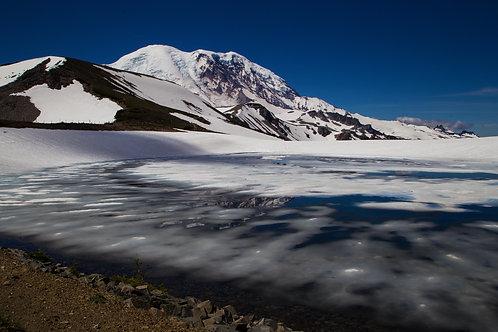 Frozen Lake, Mt rainier, Mt rainier national park, snow, ice, landscape