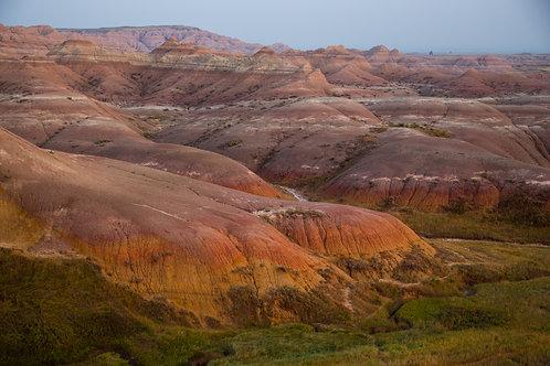 yellow mounds, badlands, badlands national park, South Dakota, landscape
