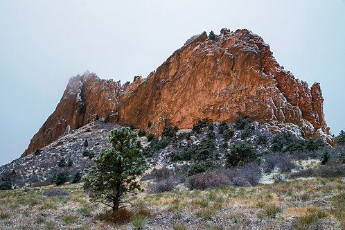 garden of the gods, Colorado, Colorado Springs, snow, winter, landscape