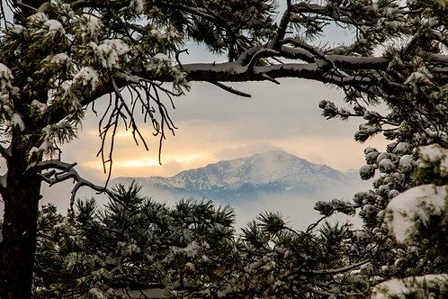 pikes peak, americas mountain, Rocky Mountains, mountains, Colorado, Colorado Springs, landscape, snow
