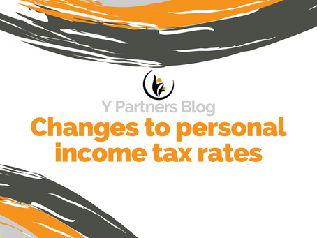 Changes to personal income tax rates