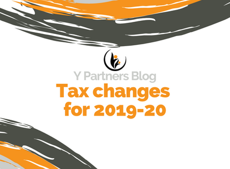 Tax changes for 2019-20