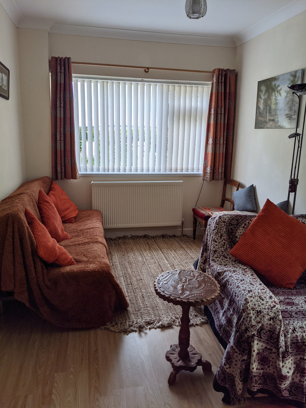 Extra living room space with bed settee if required.