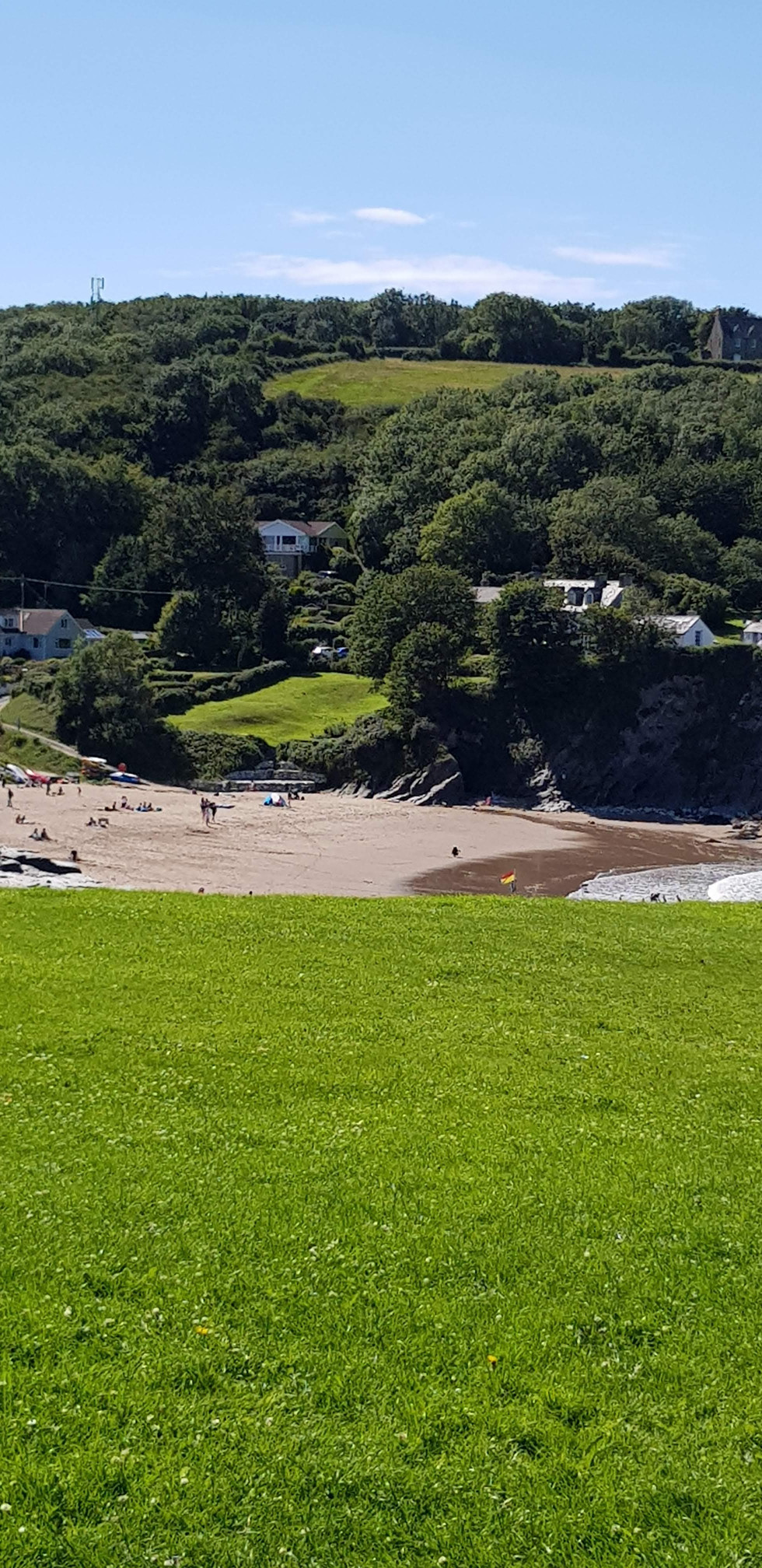 Aberporth beach - great for kids and dogs