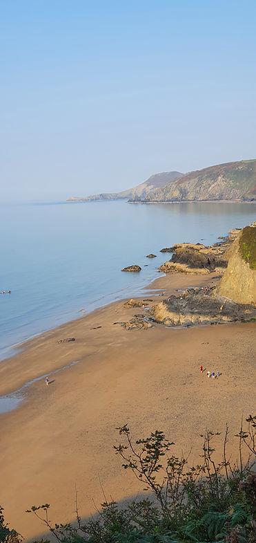 Tresaith beach coastal path from Aberpor
