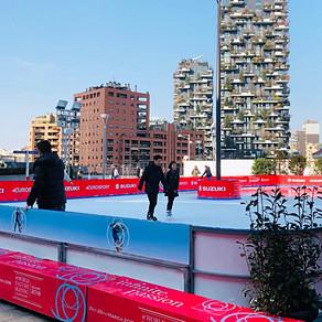 ミラノの都心にスケートリンク!