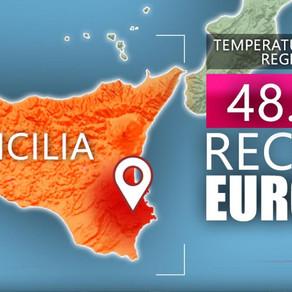 イタリアで最高気温の記録更新!