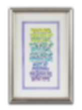 Jewish Home Blessing – Silver Frame