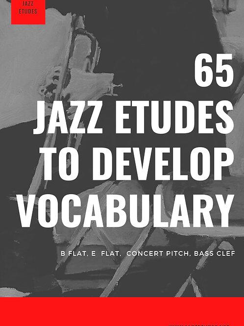 65 jazz etudes to develop vocabulary