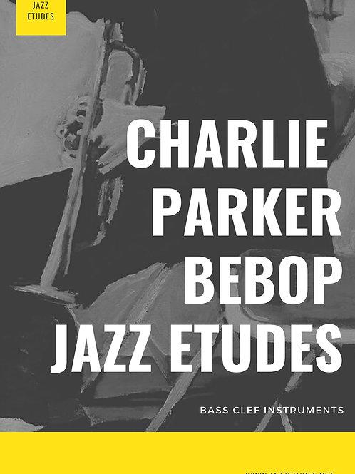 Charlie Parker bebop etudes Bass clef