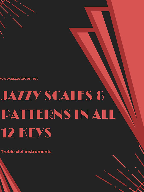 Jazzy scales & patterns in all 12 keys - Bass clef