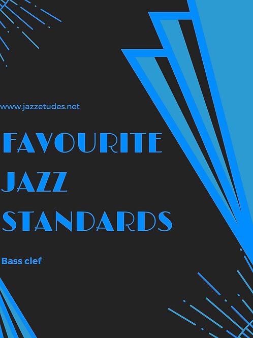 Favourite jazz standards - bass clef