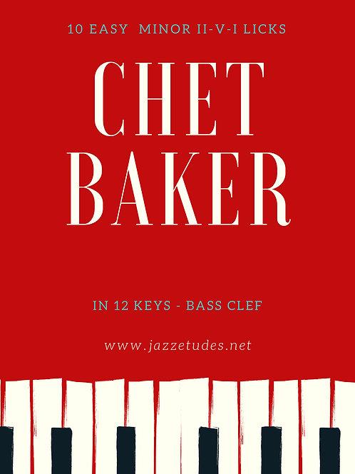 10 easy minor II-V-I licks Chet Baker in 12 keys - Bassclef