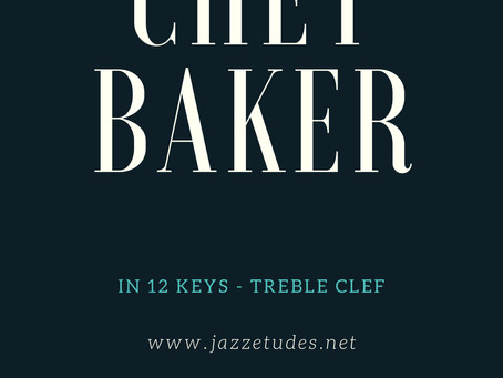 Chet Baker II-V-I licks in major and minor keys