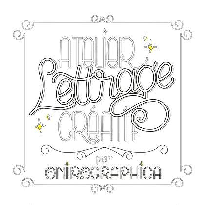 Guide de lettrage créatif par Onirographica - couverture