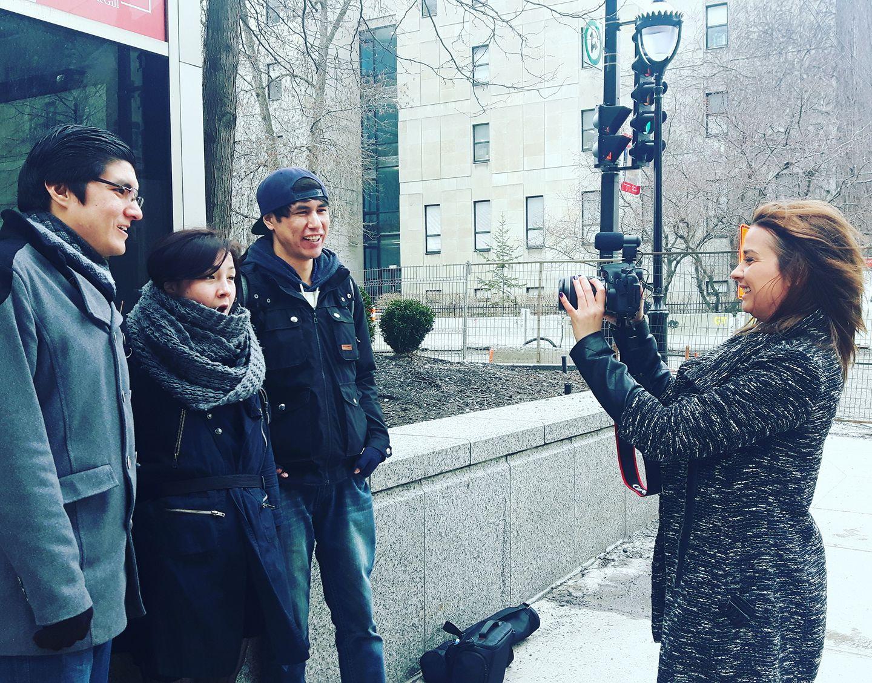 En tournage d'un reportage pour TV5