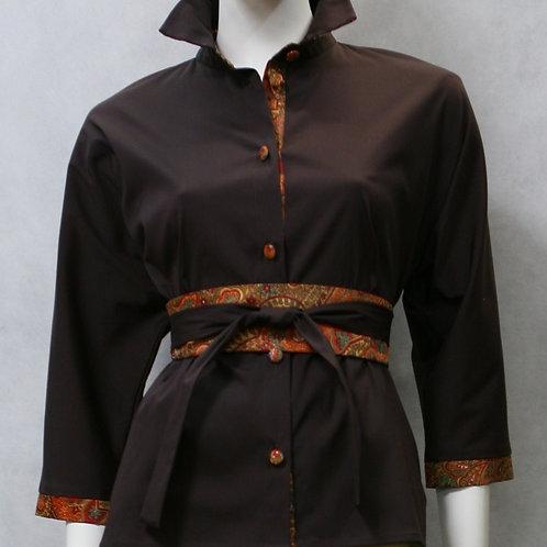 Блузка из хлопка-стрейч
