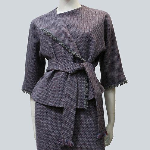 Жакет и юбка с бахромой из итальянской рогожки