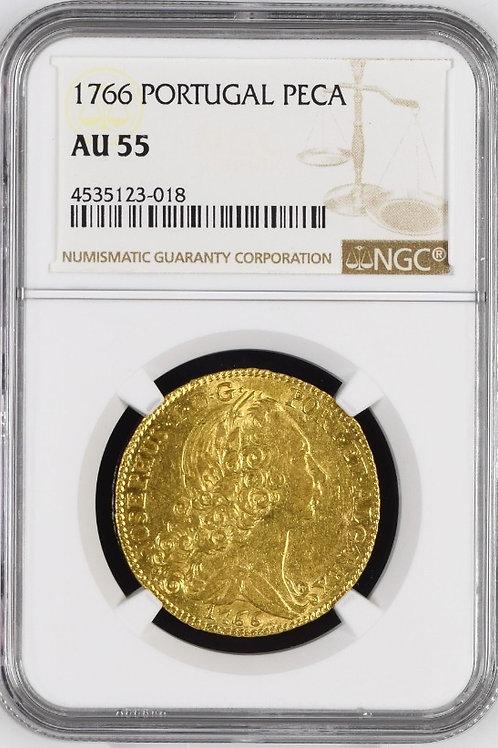 ポルトガル 1ぺカ金貨 1766 ジョゼⅠ