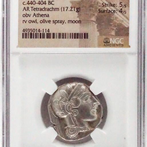 紀元前のギリシアコイン テトラドラクマ銀貨