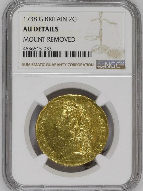 イギリス2ギニー金貨 1738 ジョージⅡ