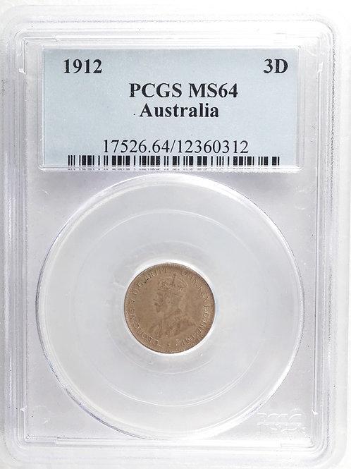 オーストラリア 3ペンス銀貨