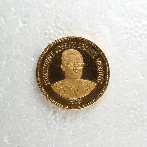 コンゴ民主共和国 25マクタ金貨