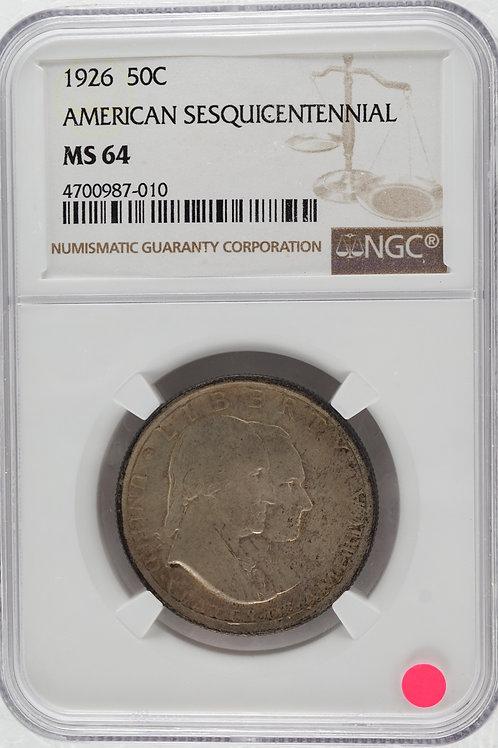 アメリカ 1/2ドル銀貨 1926