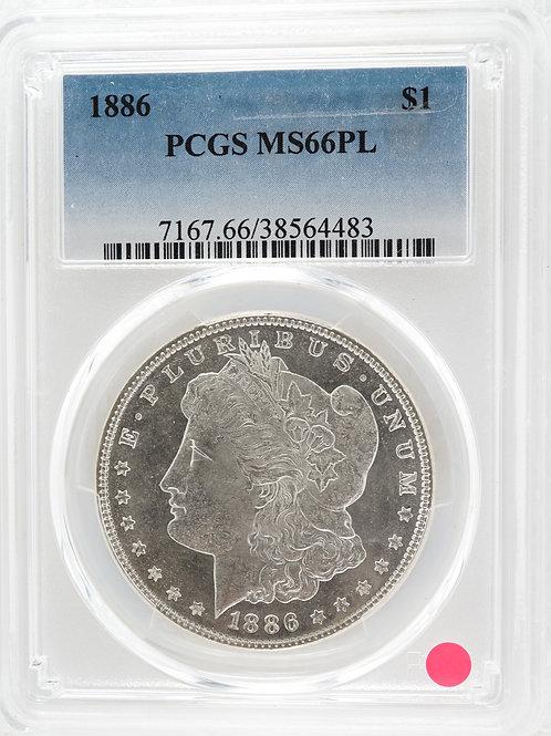 アメリカ 1ドル銀貨 1886