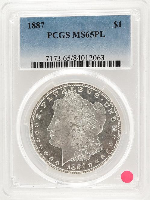 アメリカ 1ドル銀貨 1887