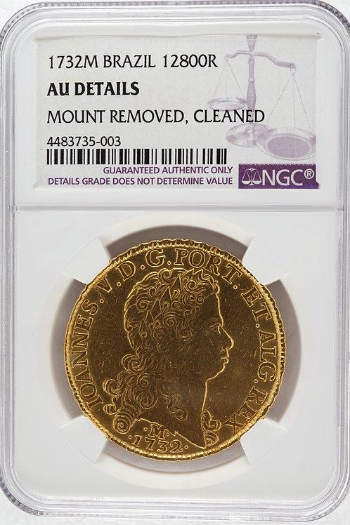 ブラジル 12800レイス金貨 1732 ジョアン5世